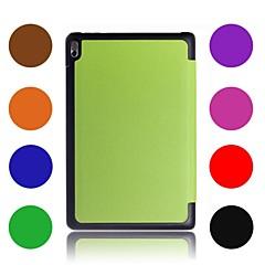 """cuero libro de negocios del caso del soporte cubierta tímido oso ™ de Lenovo A7600 a10-70 10.1 """"pulgadas tableta"""