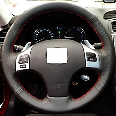XuJi ™ Black Genuine Leather Steering Wheel Cover for Lexus IS250
