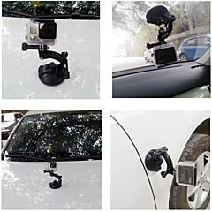 dulane - uma forte sucção titular carro cup 80 centímetros para GoPro Hero 2/3/3 + - preto