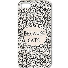 Because Cute Funny Cats Hard Protective Cover Case for iPhone 5/5S