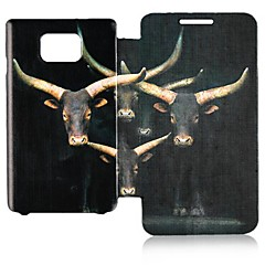 Elk Padrão Leather Case Full Body para Samsung Galaxy S2 I9100