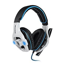 SADES SA903 7.1 Channel Surround Sound Profesional Gaming Headset Auriculares con micrófono para PC del juego (Negro / Blanco)