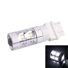 3157/3156 60W 12x LED SMD 650LM 6500K White Light LED Bil Steering Brake Light (DC12-24V)