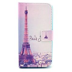 Varten LG kotelo Korttikotelo / Lomapkko / Tuella / Flip Etui Kokonaan peittävä Etui Eiffelin torni Kova Tekonahka LG LG G18