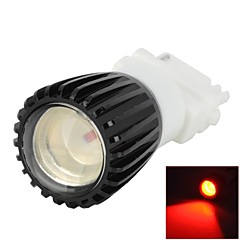 3156 3W 1-SMD LED Red Light Car Steering / Backup Light (12V)