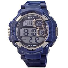 Masculino Assista Quartz Relógio Esportivo LED / Calendário / Cronógrafo / Impermeável / alarme PU Banda