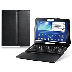 Faux Leather Flip Case with Bluetooth Keyboard for Samsung Galaxy Tab 10.1(Assorted Colors)