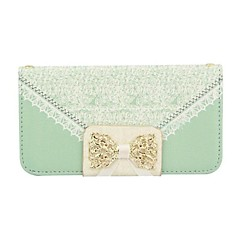 Diamante PU Leather Full Body Case Handbag Lace for iPhone 4/4S