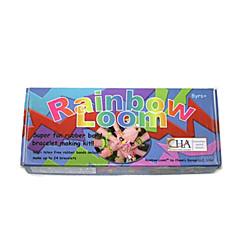 Rainbow Colorful Loom (Band 600PCS、Crochet Hook、24 S Hooks、Shelf、Blowing Molding、Instructions)