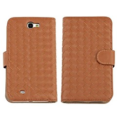 Faux Leather Knit Wallet Flip Pouch Case For Samsung Galaxy Note 2 N7100