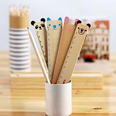 Gullig djur Wood Rak Ruler (Blandade färg)
