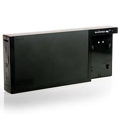 Skjerp 12000mAh makt murstein I + FW50 Batteri Holder for Sony NEX-5N NEX-5R NEX-6 NEX7 NEX-C3 - Svart