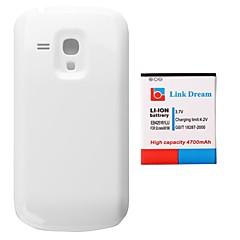 삼성 갤럭시 S3 미니 GT-i8190의 I8160 (EB425161BE)에 대한 링크 드림 4700mAh 두껍게 휴대 전화 배터리 + 백색 뒤 표지