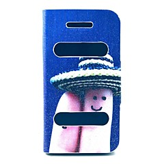 Finger Smile Pattern PU Leather Full Body Case with Stand for iPhone 4/4S