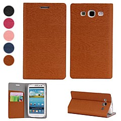 Silk Pattern PU Leather Full Body Case with Stand and Card Slot for Samsung Galaxy S3 i9300 (Assorted colors)