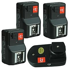 WanSen PT-04GY 4 canaux sans fil / Radio déclencheur flash avec 3 récepteurs pour Canon Nikon