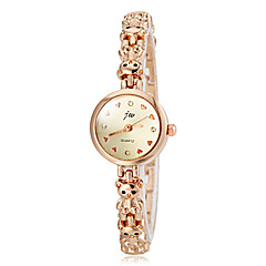 Women's Little Bear Design Gold Alloy Band Quartz Bracelet Watch (Assorted Colors)