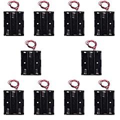 hotsale CM01 professionelle kappenloses diy 3 x AA Batteriehalter Fall-Box mit Blei / Leitung (10 Stück)