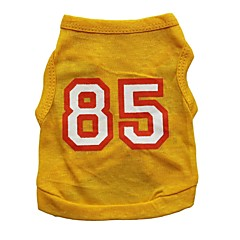 Cat / Dog Shirt / T-Shirt / Jersey Yellow Dog Clothes Summer Letter & Number