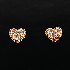 Earring Heart Stud Earrings Jewelry Party / Daily / Casual Alloy / Rhinestone Gold / Transparent