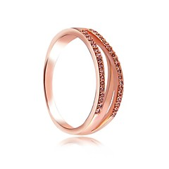 Sweet Rose Gold Micro-Drilling Unisex Rings