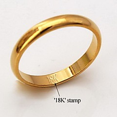 U7® High Quality 18K Chunky Gold Filled Rings for Women Men Classic Simple Style with 18K Stamp