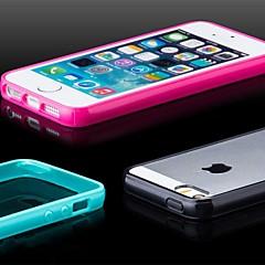 frosted terug TPU bumper case voor de iPhone 5 / 5s (diverse kleuren)
