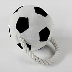 개를위한 편조 로프와 축구 삐꺽이는 소리 장난감 (13 X 13cm)