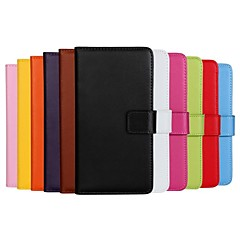 Solid Color Pattern Genuine Leather Full Body Case with Stand And Card Slot for Nokia Lumia 630 (Assorted Colors)