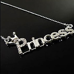 Miss ROSE®Fashion Zircon Letters of Princess Necklace