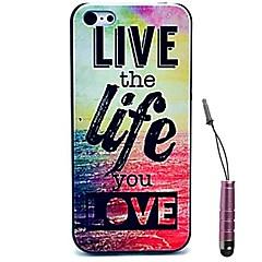 viver a vida que você ama estojo rígido padrão&caneta de toque para iPhone 5 / 5s