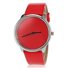 kvinders simpel dial rene farve pu band quartz armbåndsur (assorterede farver)