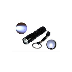 HJX-520 3W Police 1-Mode Aluminum Alloy AA Batteries Portable LED Flashlight (50LM, 1xAA, Black)