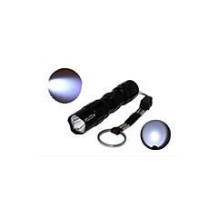 LED손전등 / 손전등 LED 1 모드 50 루멘 기타 AA 일상용 - 기타 , 블랙 알루미늄 합금