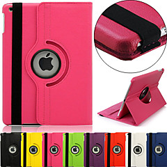 DSB® 360 Degree Rotating 100% PU Leather Covered include Back Case Full Body Case for iPad Air