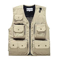 Leyou Sunmer Muti-porket Gridding Waistcoat Vest for Outdoor Photographer Director [XL]