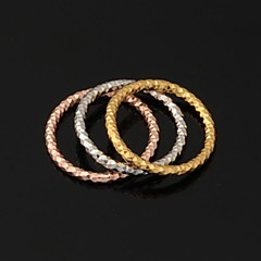 U7® New Round Triple Rings 3 Colors 18K Yellow Rose Gold Platinum Plated Band Rings for Women