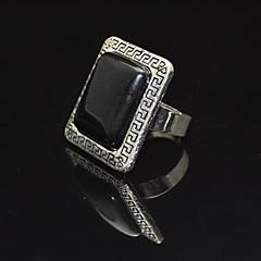 Toonykelly® Vintage Female Tibet Alloy Black Stone  Adjustable Ring (1pcs)