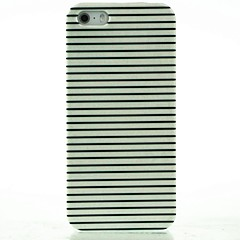 crna& White Stripes uzorak hard case za iPhone 5/5 sek