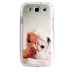 Dog Eyeglass Pattern Plastic Hard Case for Samsung Galaxy S3 I9300