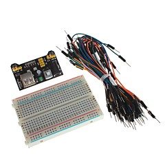 XD   DIY Power Supply Module with Breadboard and Jump Wires Kits for Arduino