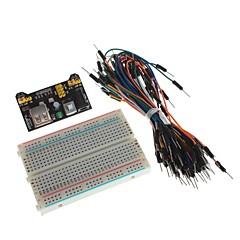 xd DIY virtalähde moduuli koekytkentälevyn ja hypätä johdot sarjat arduino