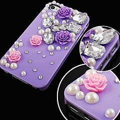 Rose with Diamond Back Case for iPhone 4/4S