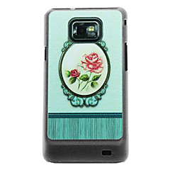 The Mirror Rose Leather Vein Pattern Hard Case for Samsung Galaxy S2 I9100