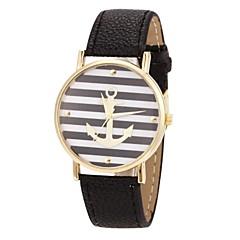 reloj patrón de anclaje de moda caso de oro de las mujeres