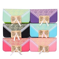 Fashion PU Leather Full Body Case Handbag Lace with Card Slot for iPhone 4/4S (Assorted Colors)