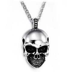 테러 악마 두개골 티타늄 스틸 남자 목걸이