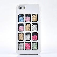 strass luxo doze quadrados de volta caso capa para o iPhone 5 / 5s (cores sortidas)
