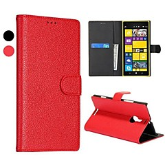 Lichee Texture Elegance Wallet Style Stand Genuine Leather Cases for NOKIA Lumia 1520(Assorted Colors)