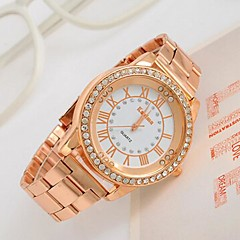 Women's Watch Big Dial Rhinestone Rose Gold Watch